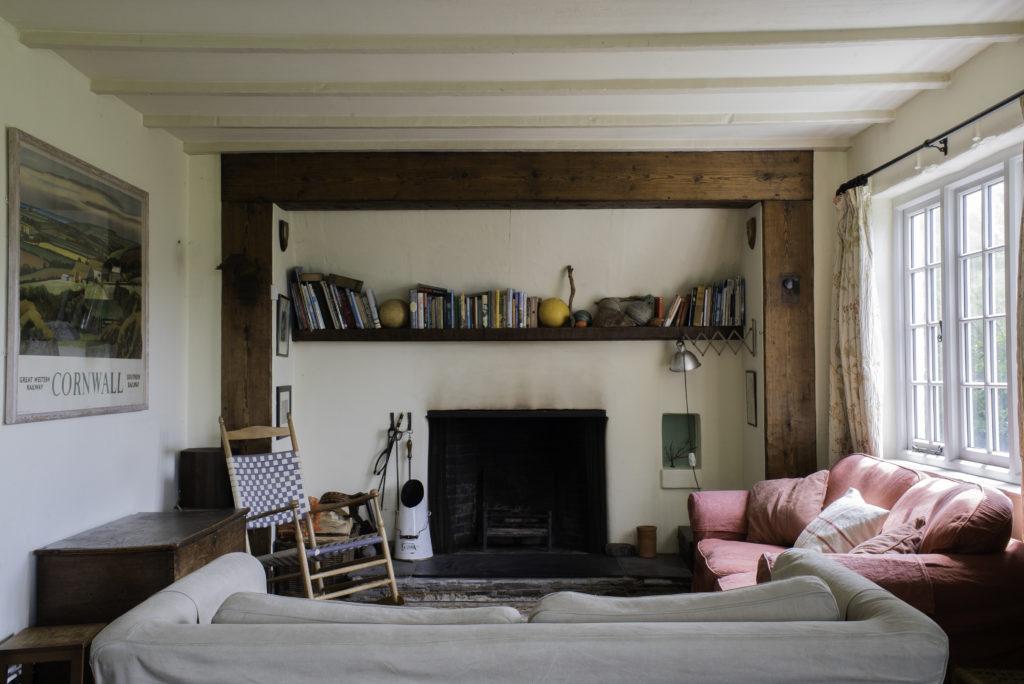 cottage open fire crackington haven